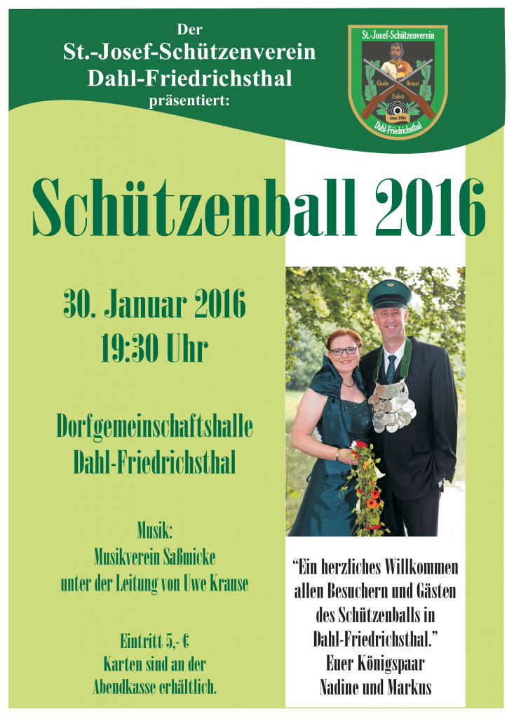 Plakat-Schützenball 2016